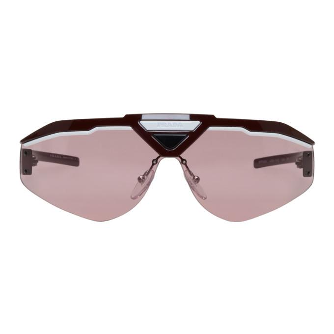 Photo: Prada Pink and Red Runway Sunglasses
