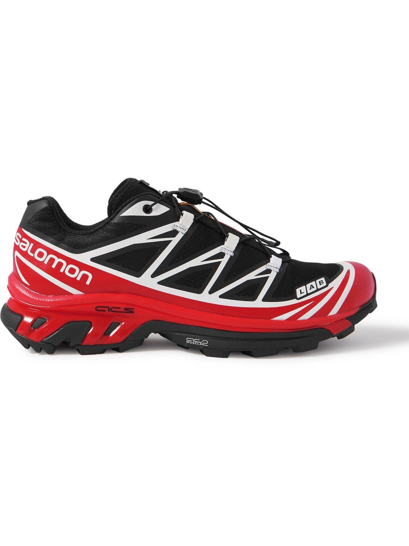 Photo: SALOMON - XT-6 Advanced Rubber-Trimmed Coated-Mesh Running Sneakers - Black - 7.5