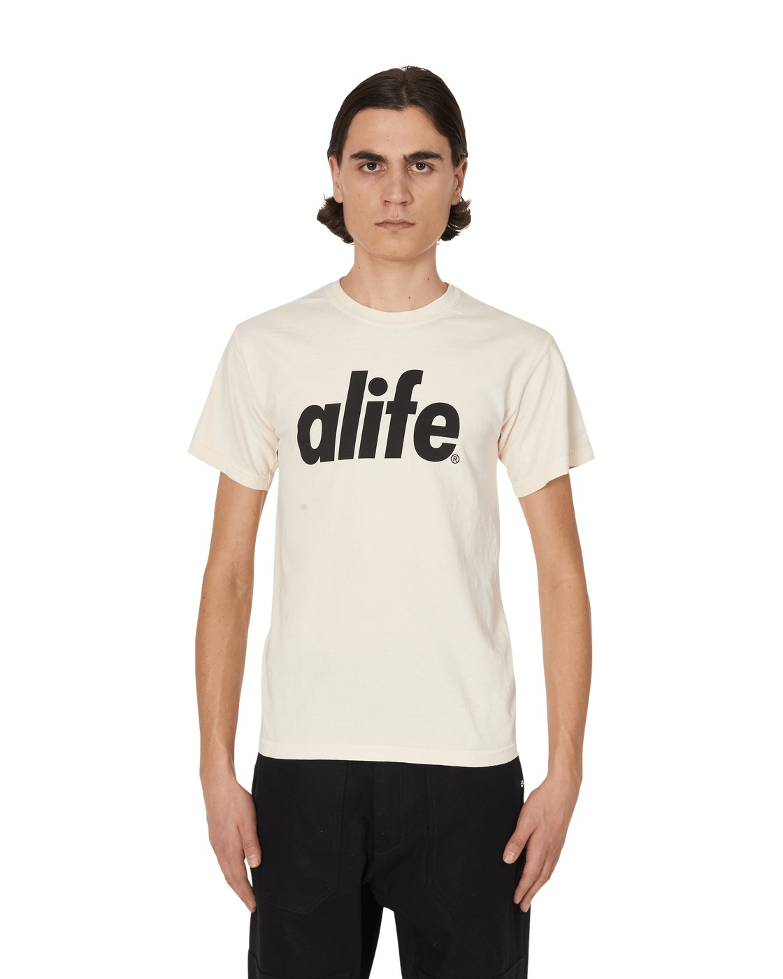 Photo: Alife Core Logo T Shirt Natural Oat