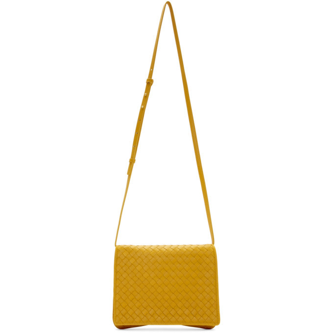 Photo: Bottega Veneta Yellow Wallet Chain Shoulder Bag