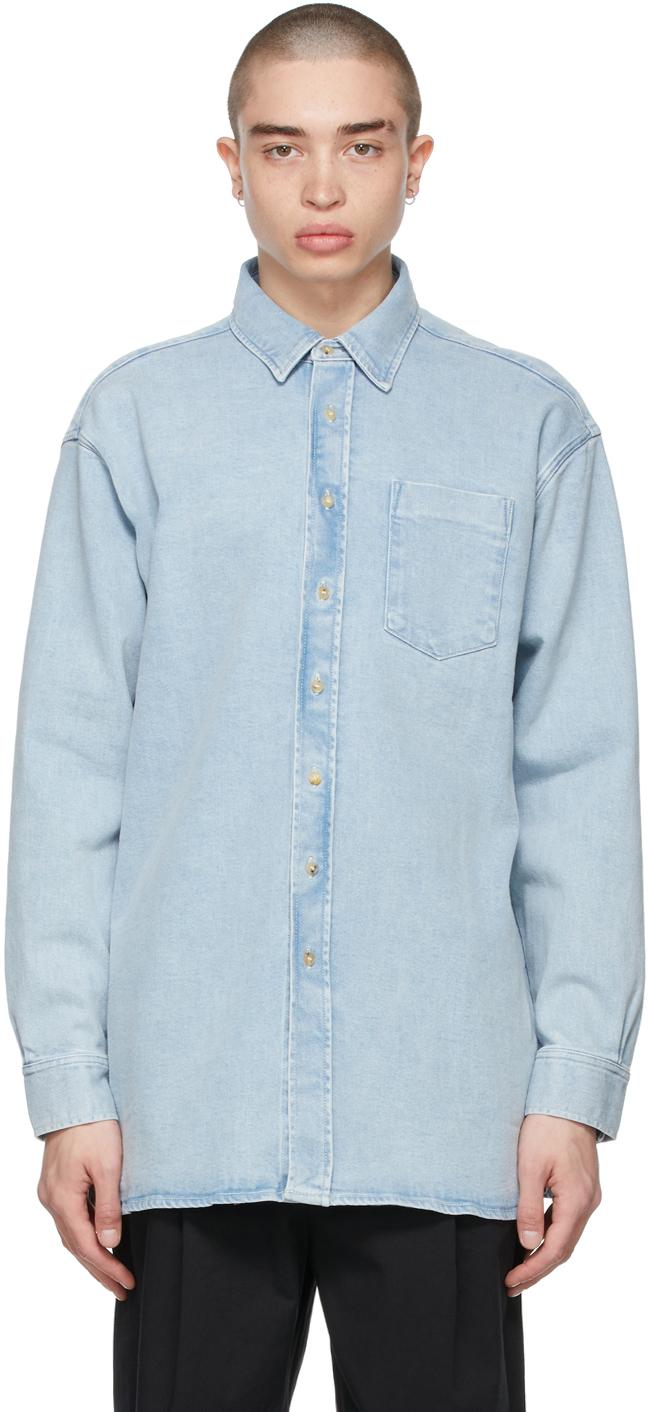 Photo: Acne Studios Blue Denim Oversized Shirt