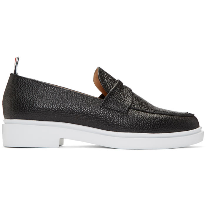 Photo: Thom Browne Black Penny Loafers