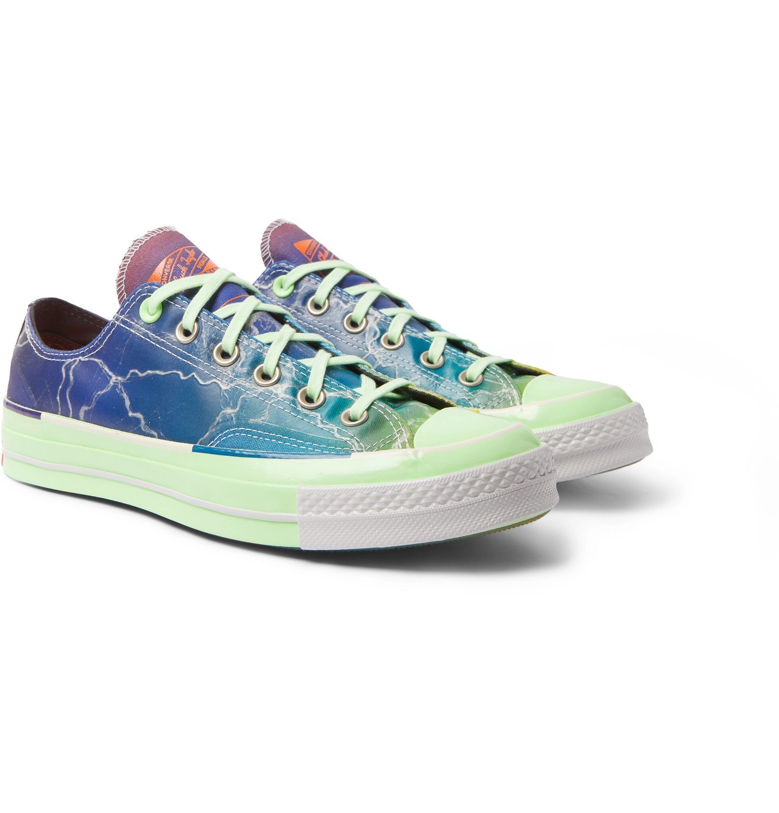 Photo: Converse - Pigalle Chuck 70 Coated-Canvas Sneakers - Multi