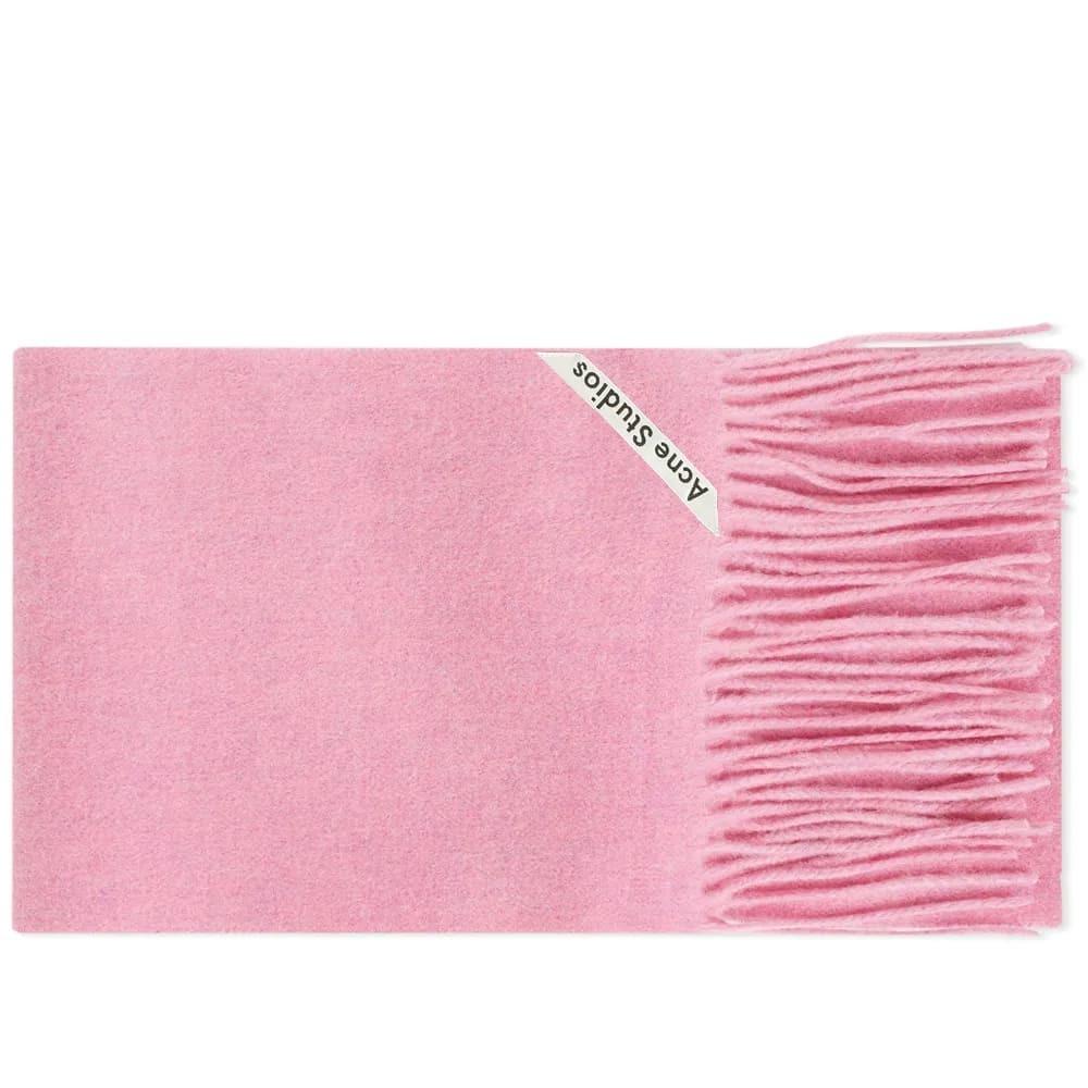 Acne Studios Canada Skinny Scarf Bubble Gum Pink Melange