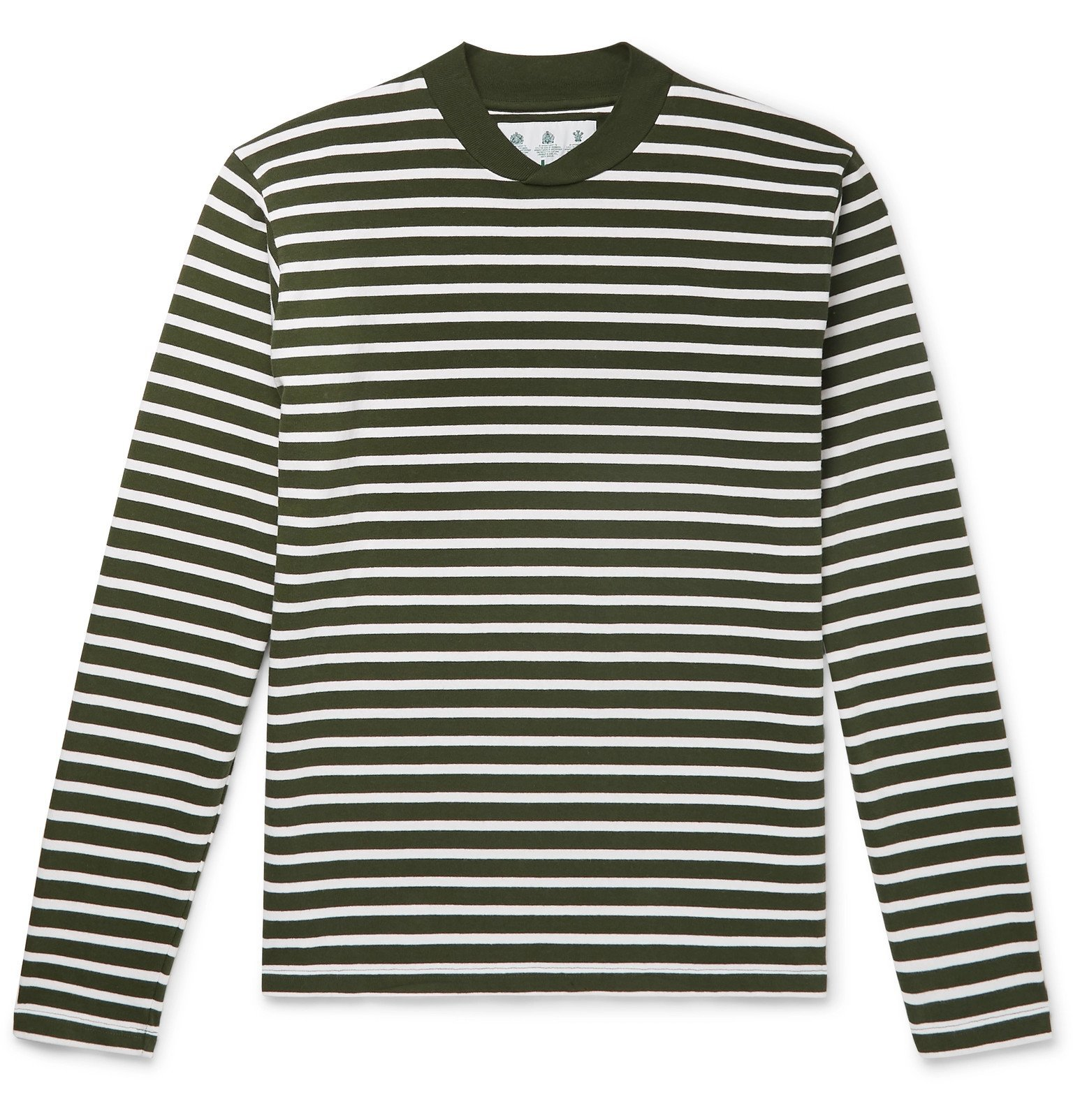 Photo: Barbour - Lanercost Striped Cotton-Jersey T-Shirt - Green