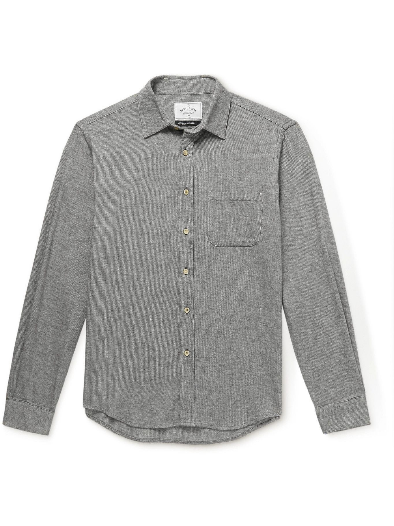 Photo: Portuguese Flannel - Teca Cotton-Flannel Shirt - Gray