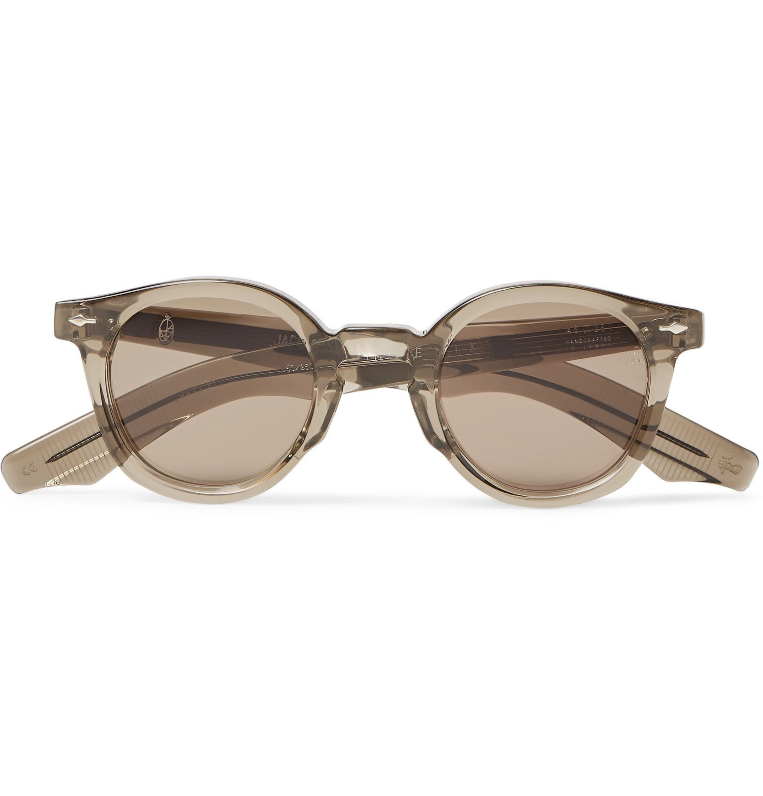 Photo: Jacques Marie Mage - Felix Round-Frame Acetate Sunglasses - Brown