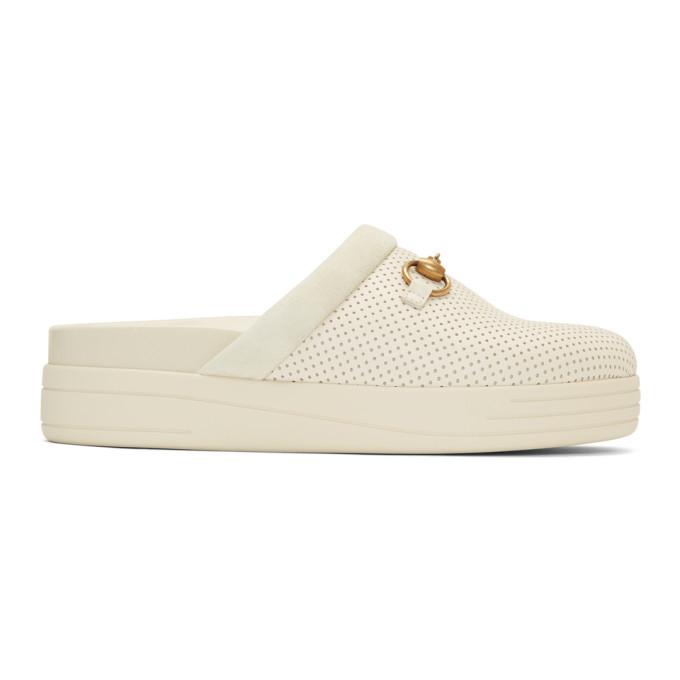 Photo: Gucci Off-White Mallorca Slip-On Loafers