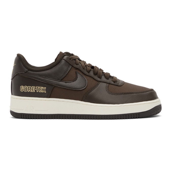 Photo: Nike Brown Air Force 1 GTX Sneakers
