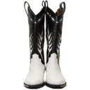 Off-White Black and White Cowboy Boots