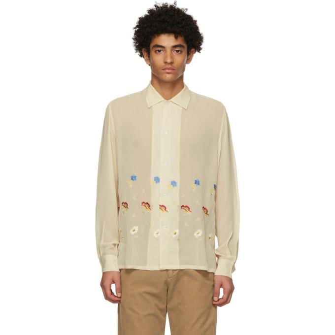 Photo: Bode Beige Mitchell Floral Shirt
