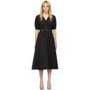 3.1 Phillip Lim Black Puff Sleeve Belt Dress