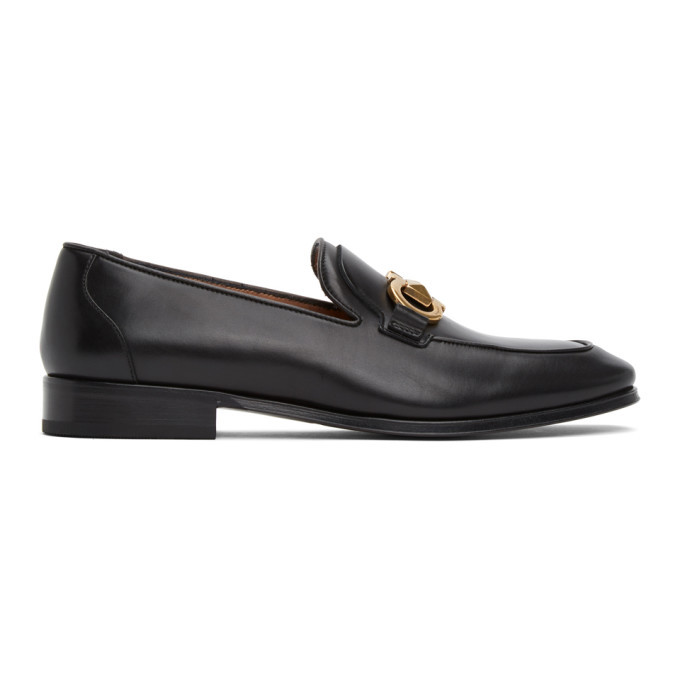 Photo: Salvatore Ferragamo Black Rudvil Loafers