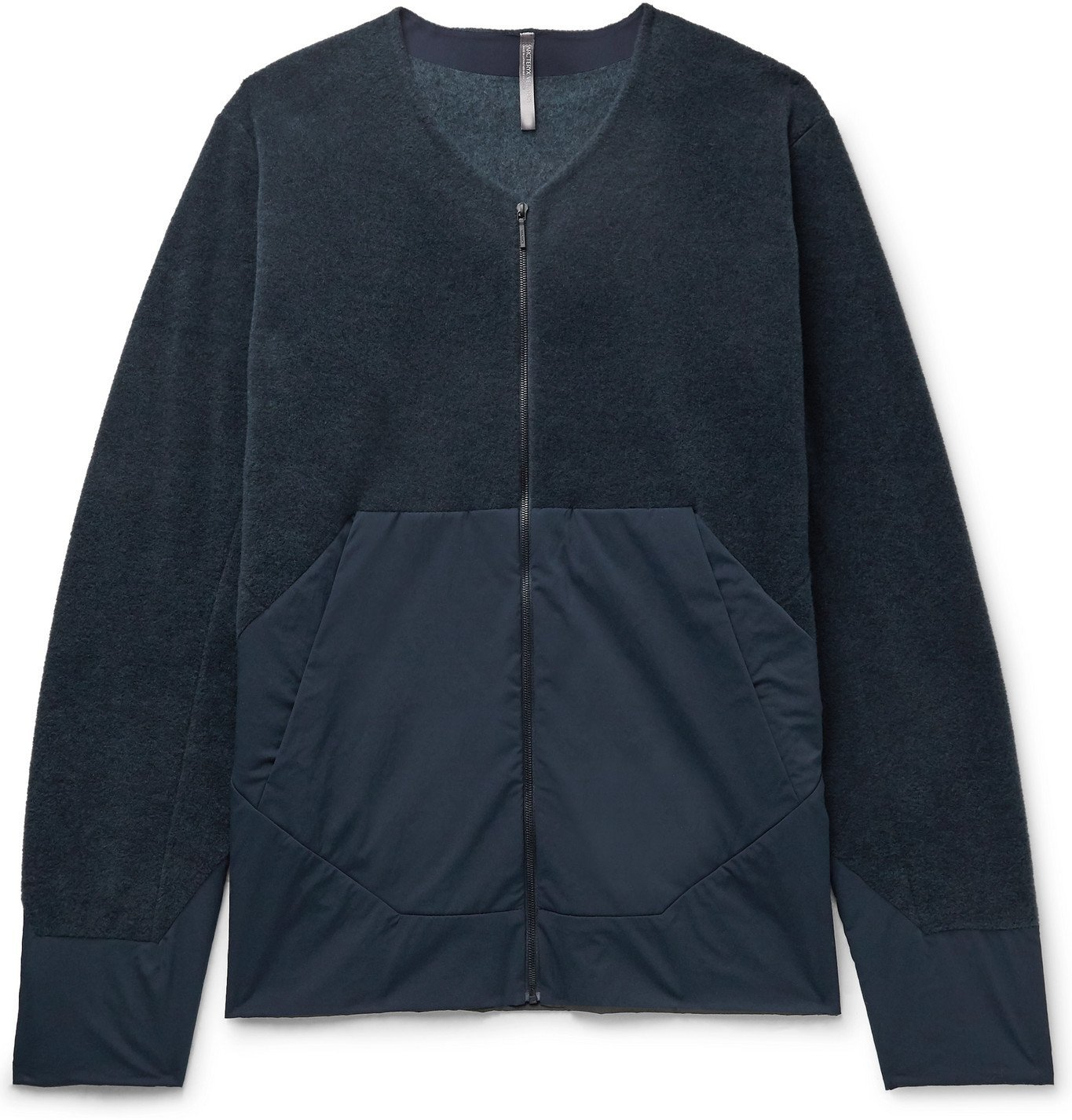 Photo: Veilance - Dinitz Comp Fleece and Stretch-Nylon Jacket - Blue