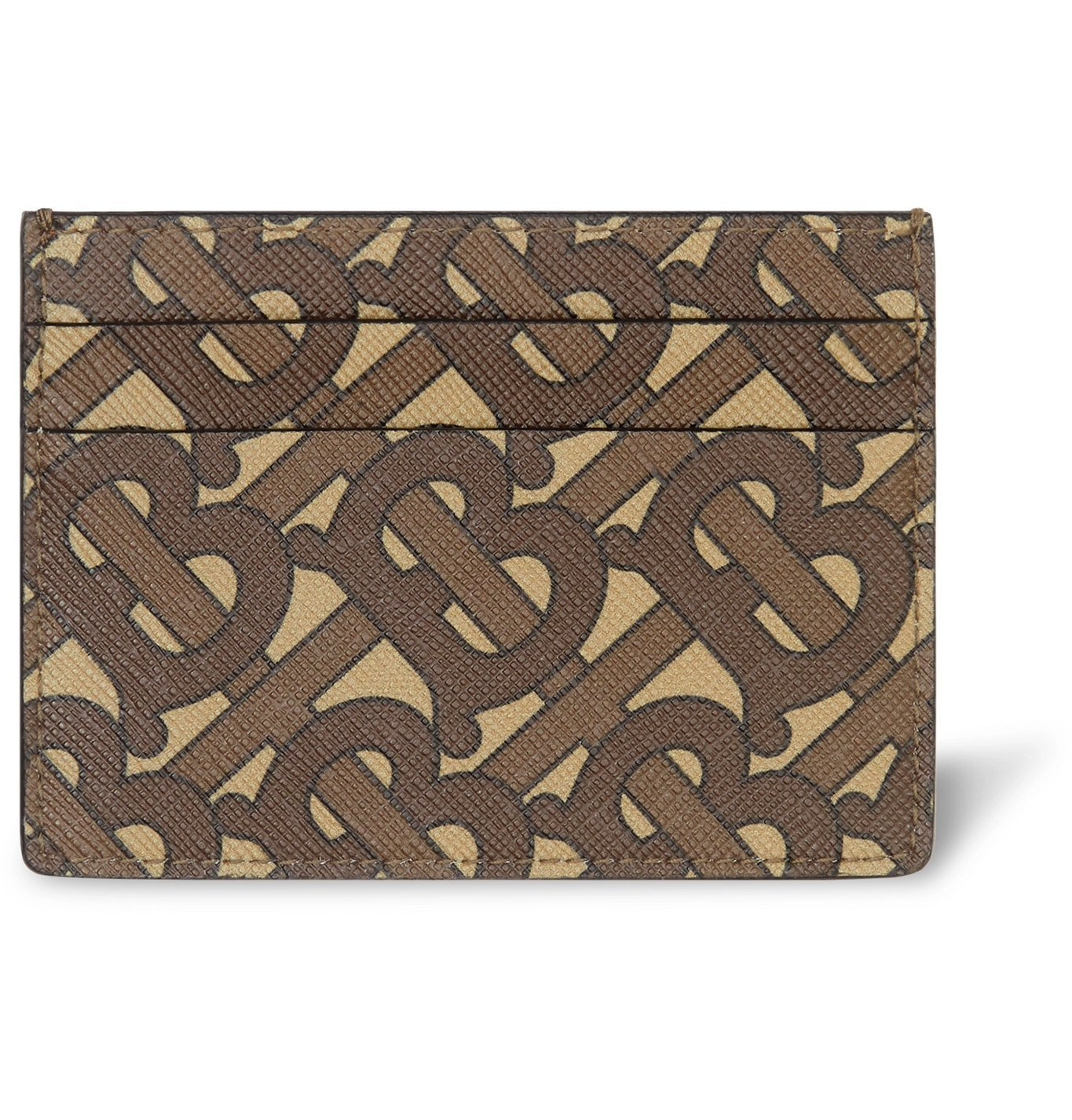 Photo: Burberry - Logo-Print Coated-Canvas Cardholder - Brown