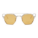 Oliver Peoples Silver and Yellow Assouline Edition Octagon Clip-On Sunglasses