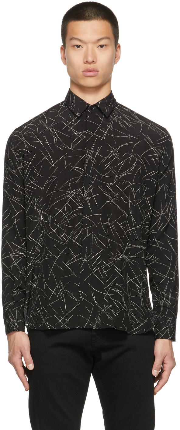 Photo: Saint Laurent Silk Calligraphy Yves Shirt