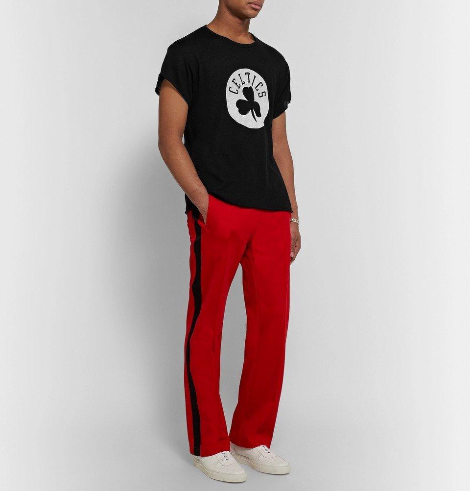 The Elder Statesman - NBA Boston Celtics Printed Cashmere and Silk-Blend T-Shirt - Black