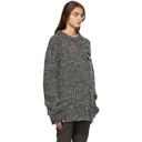 Raf Simons Black and White Wool Rib Knit Sweater