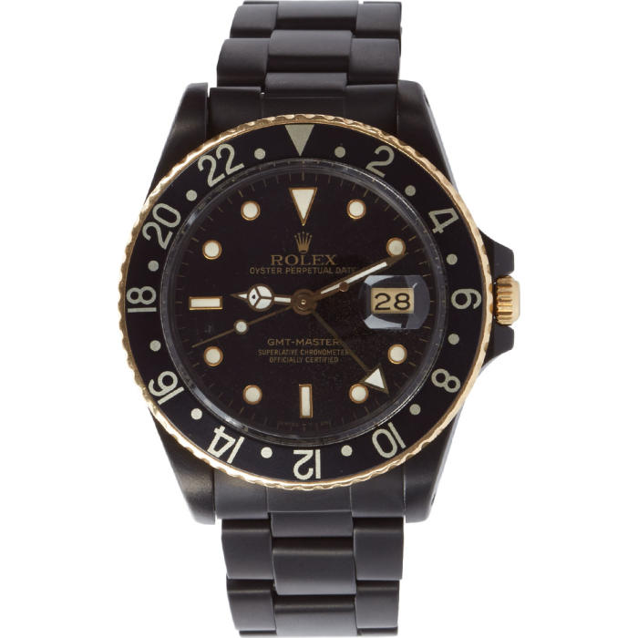 Photo: Black Limited Edition Matte Black and Gold Limited Edition Rolex GMT Master I