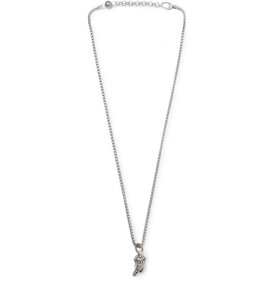 Gucci Silver Snake Ring Necklace Gucci