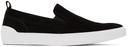 Hugo Black Suede Zero Tennis Slip-On Sneakers