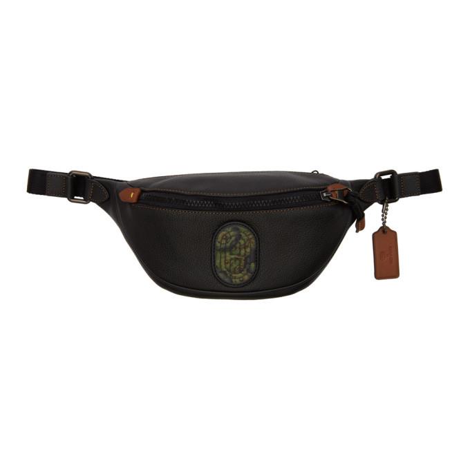 Photo: Coach 1941 Black Kaffe Fassett Mini Rivington Belt Bag