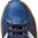 Raf Simons - adidas Originals L.A. Trainer Stan Smith Printed Leather Sneakers - Blue