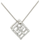 Ksubi Silver Dripps Box Cross Necklace