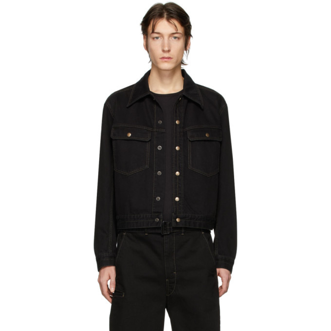 Photo: Lemaire Black Denim Trucker Jacket