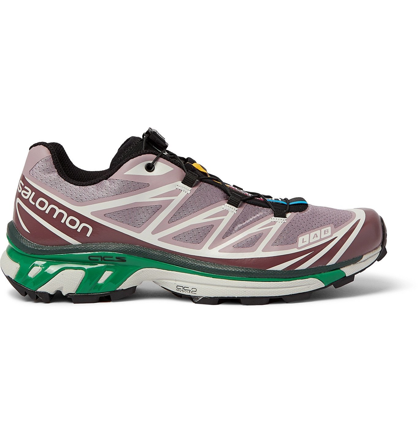 Photo: Salomon - XT-6 Advanced Rubber-Trimmed Coated-Mesh Running Sneakers - Purple