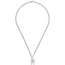 Raf Simons Silver R Pendant Necklace