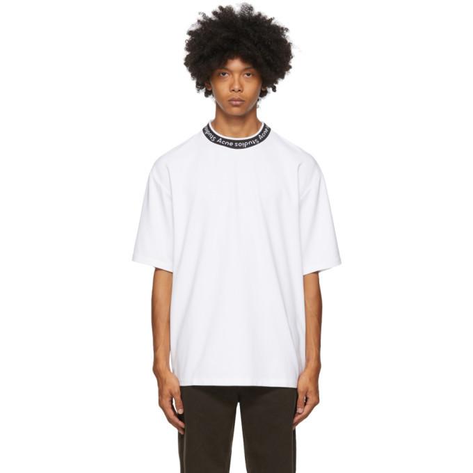 Photo: Acne Studios White Jacquard Logo T-Shirt