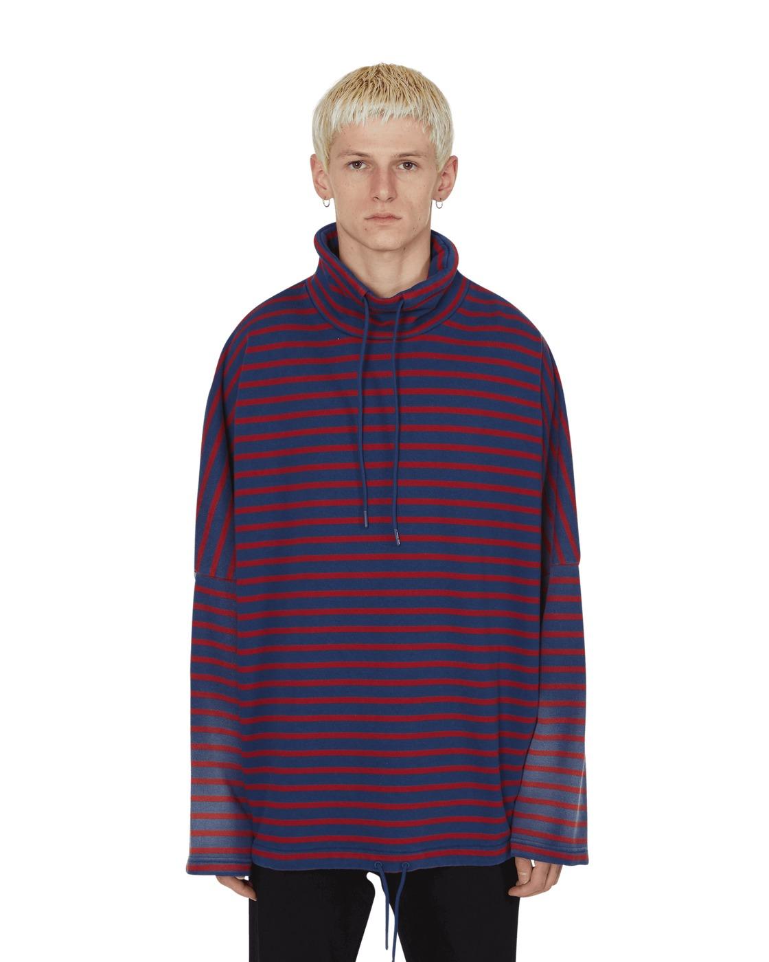 Martine Rose Batwing Drawcord Sweatshirt Sunbleach/Red Stripe
