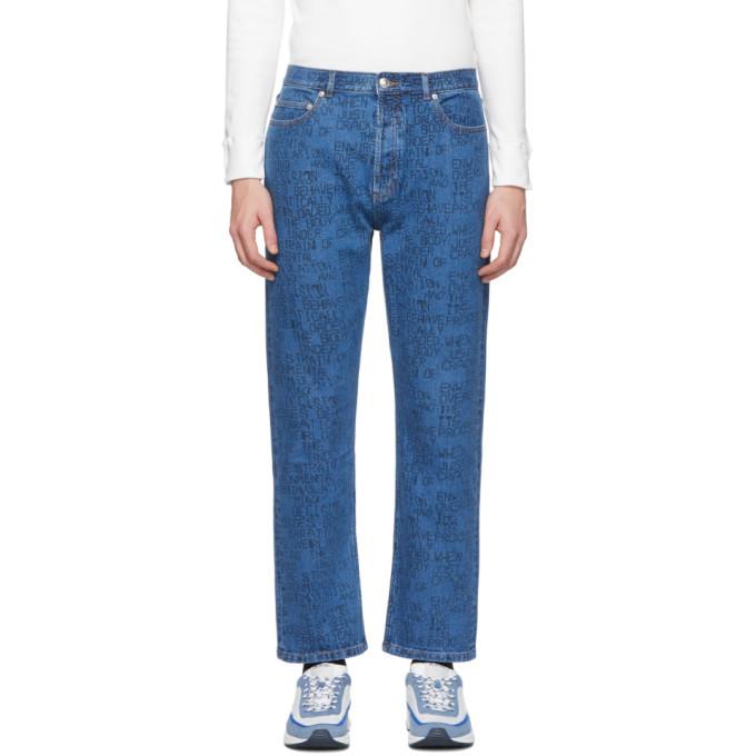 Photo: A.P.C. Blue Braindead Edition Crypt Jeans