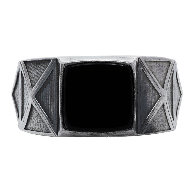 Photo: Emanuele Bicocchi Silver and Black Square Stone Ring