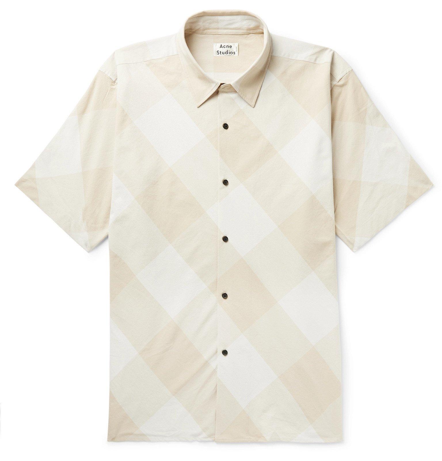 Acne Studios - Shepton Checked Cotton Shirt - Neutrals