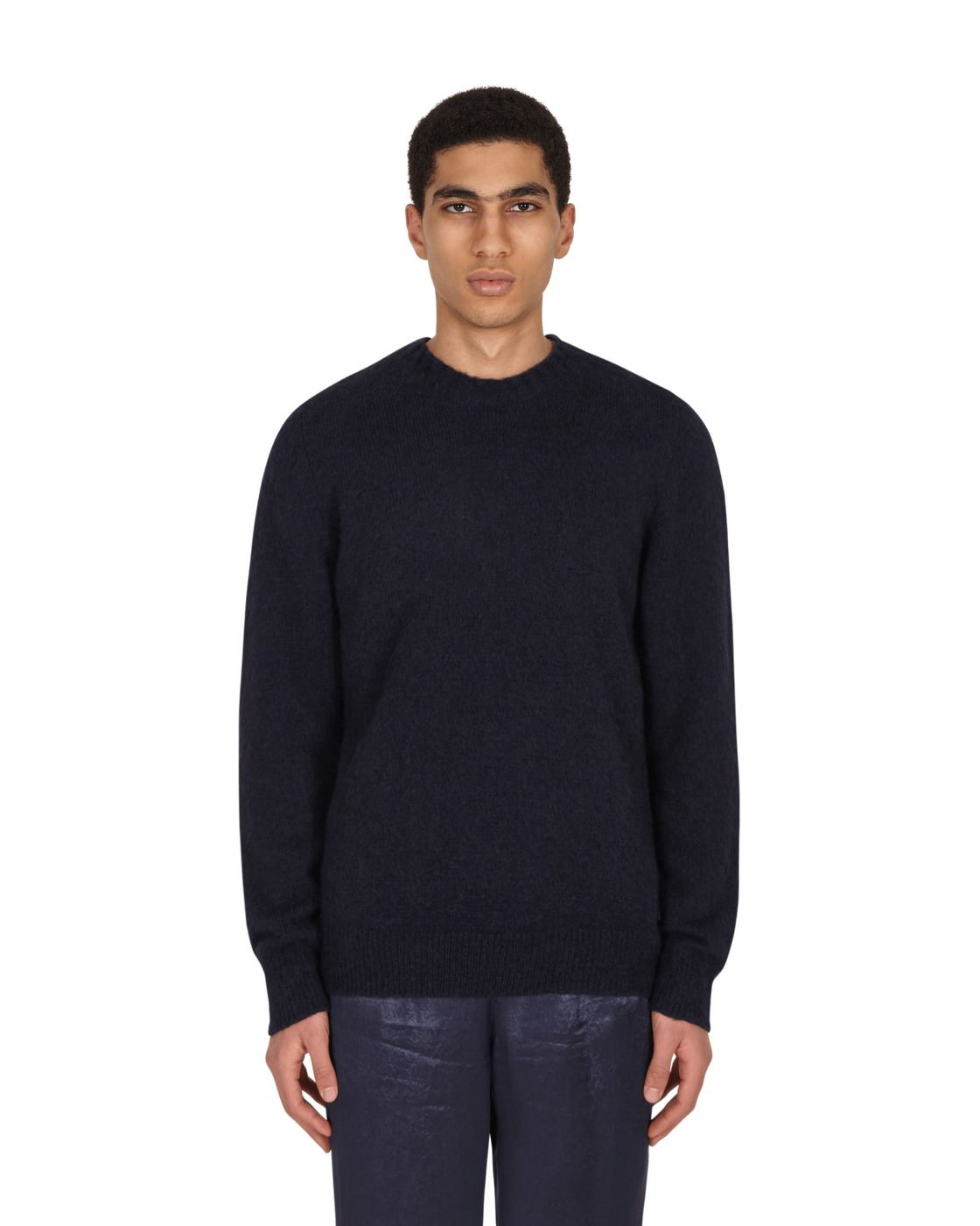 Photo: Helmut Lang Brushed Crewneck Sweater Navy