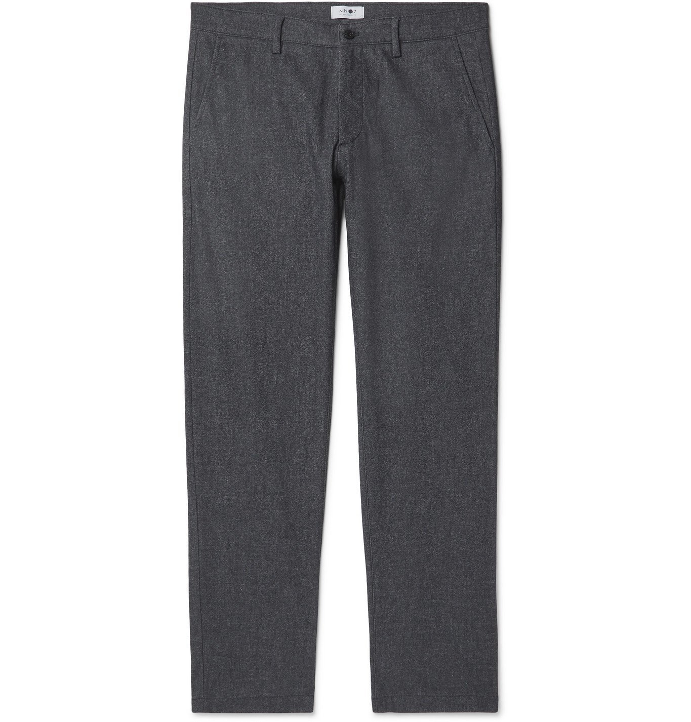 Photo: NN07 - Theo Tapered Mélange Twill Chinos - Blue
