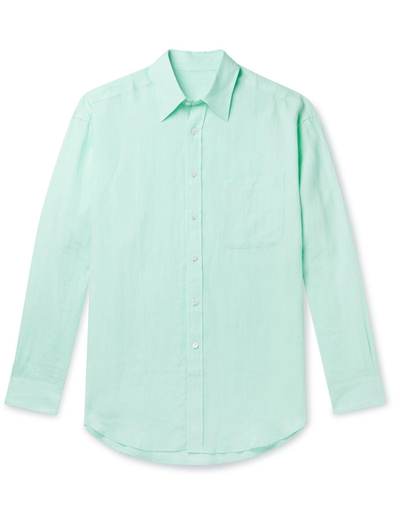 Photo: ANDERSON & SHEPPARD - Linen Shirt - Green