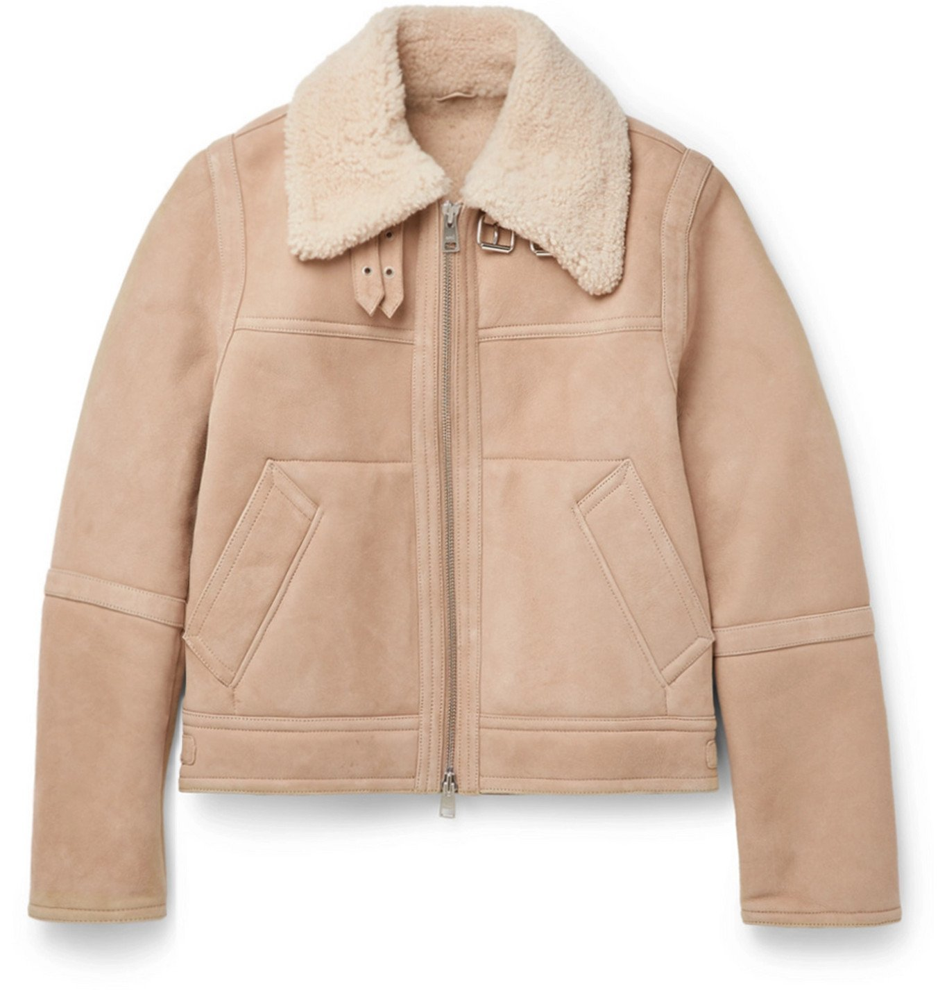 Photo: AMI PARIS - Shearling Jacket - Neutrals