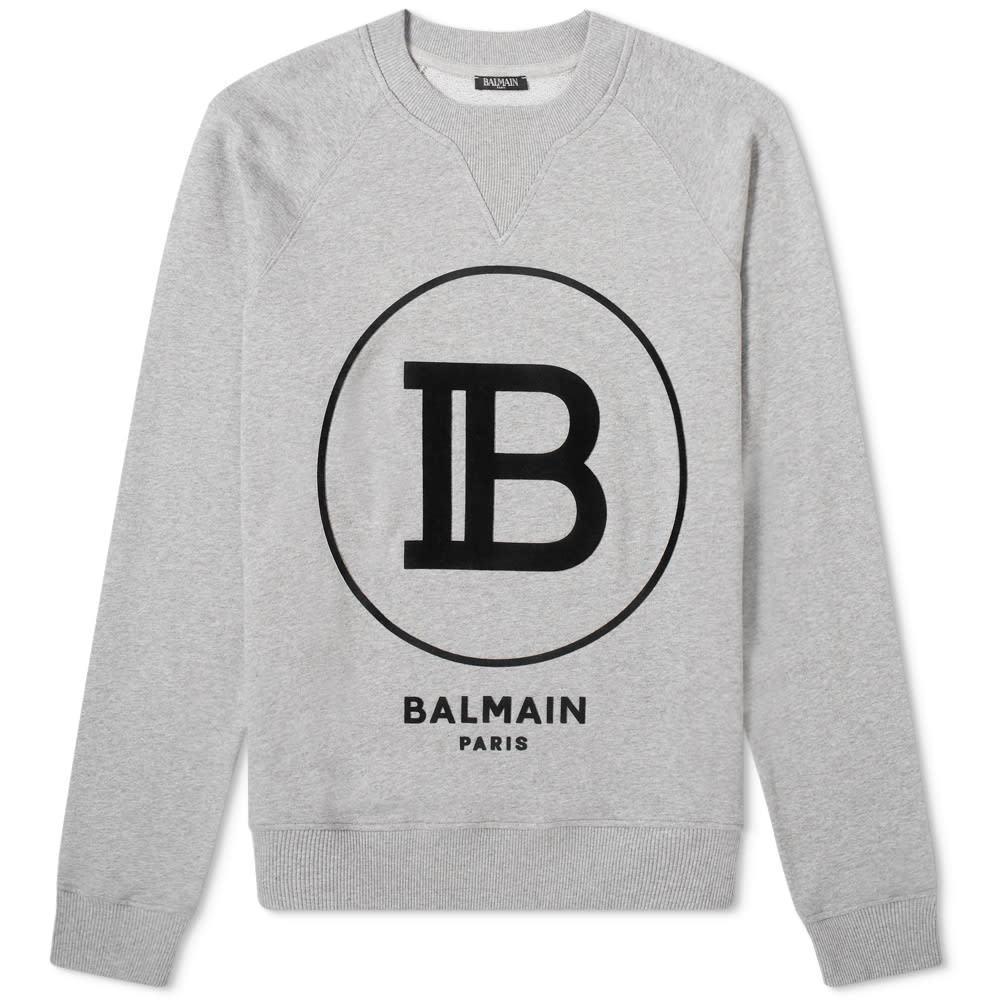 Photo: Balmain Circle Logo Crew Sweat