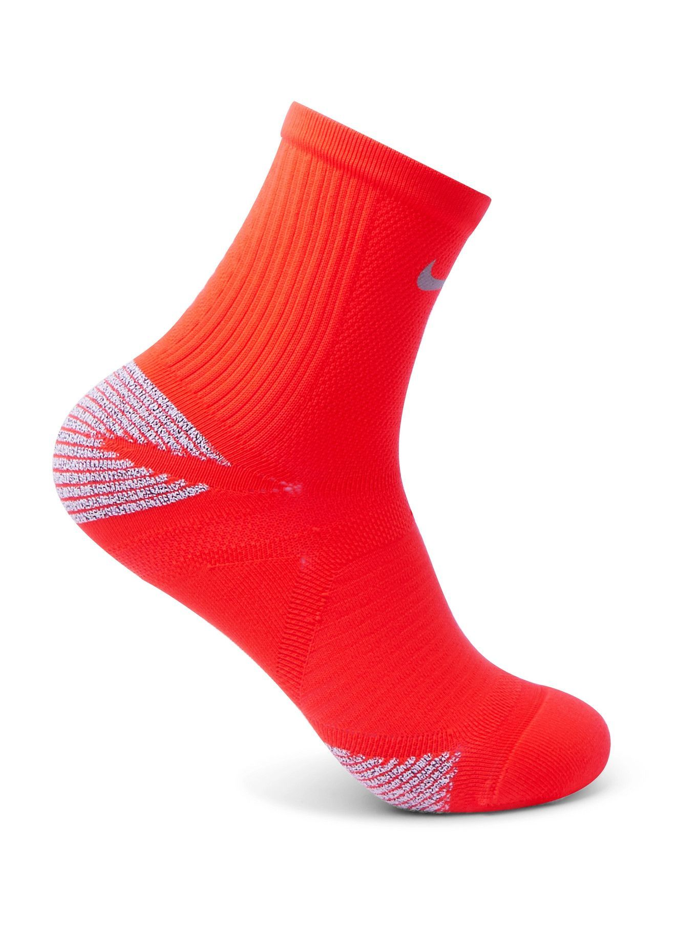Photo: Nike Running - Racing Stretch-Knit Running Socks - Red - 6