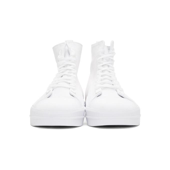 Y-3 White Yuben Mid Sneakers