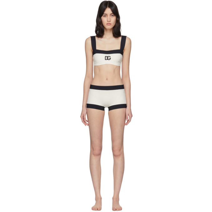 Dolce and Gabbana Off-White DG Bikini