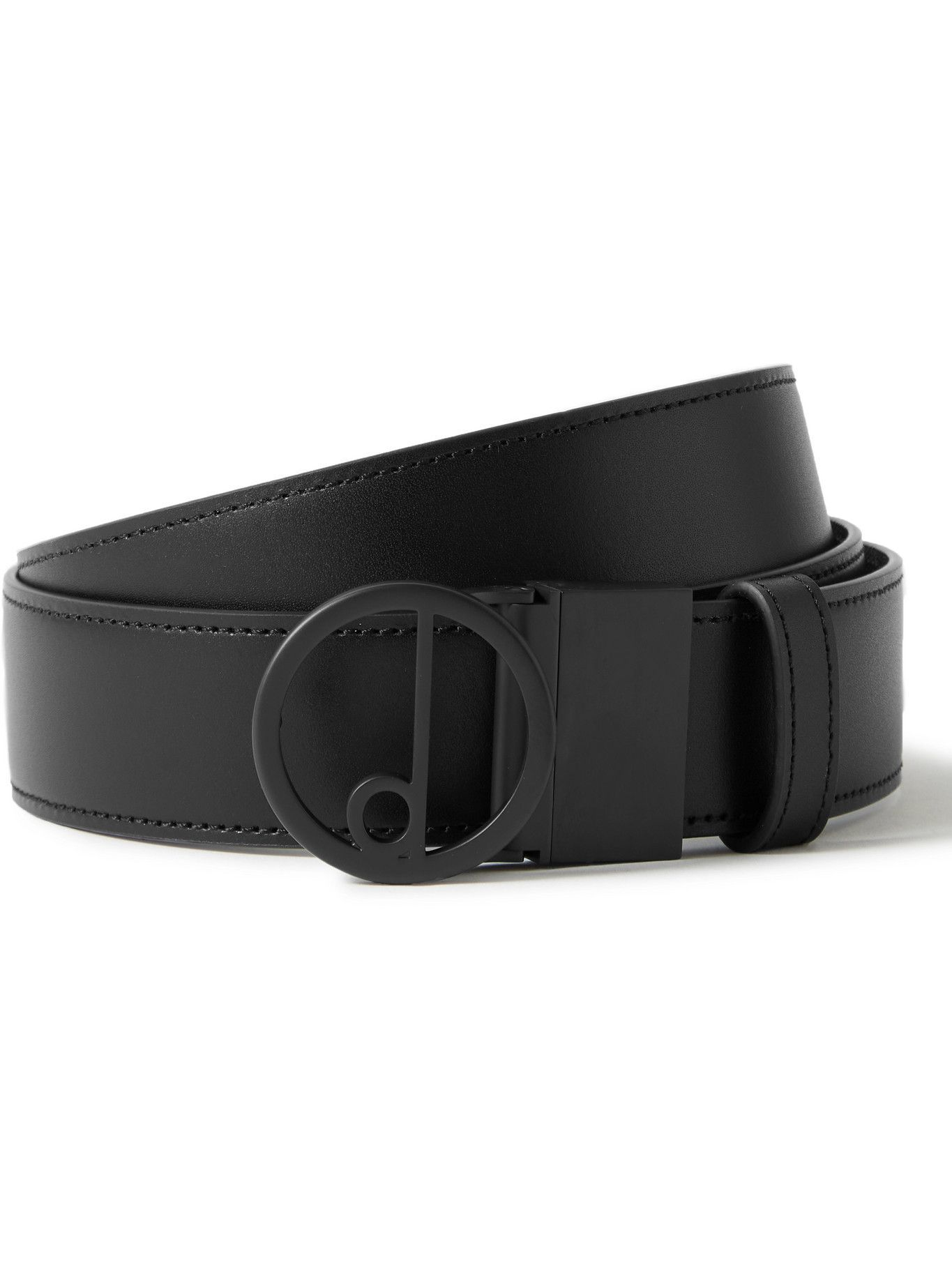 Dunhill - 3.5cm Reversible Logo-Print Coated-Canvas and Leather Belt
