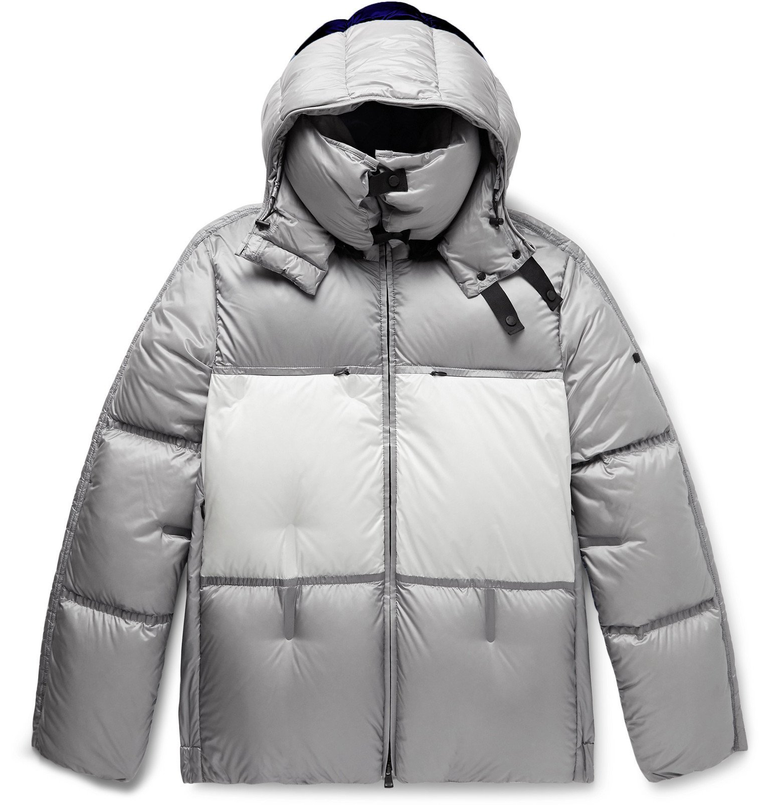 Photo: Moncler Genius - 5 Moncler Craig Green Coolidge Colour-Block Quilted Shell Hooded Down Jacket - Gray