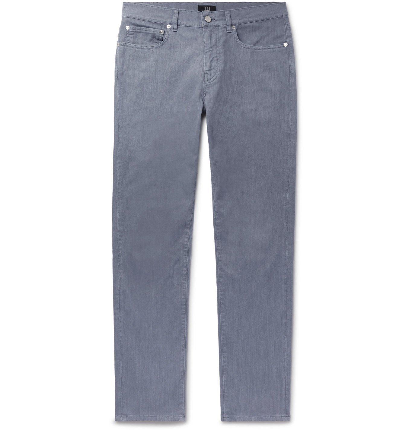 Photo: Dunhill - Slim-Fit Denim Jeans - Blue