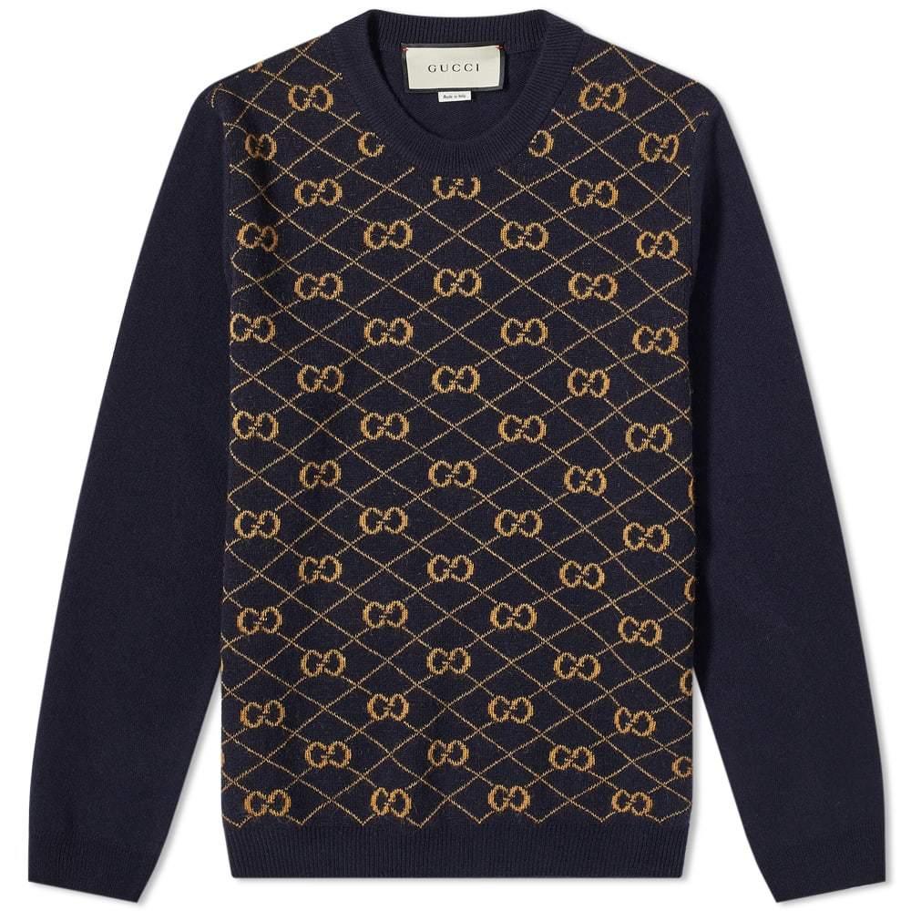 Photo: Gucci GG Woven Wool Crew Knit