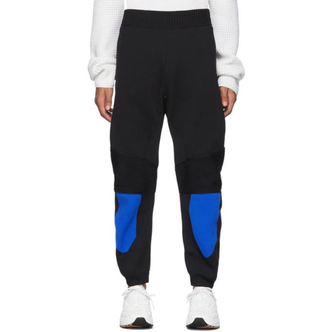 Photo: Bottega Veneta Black and Blue Knit Trousers
